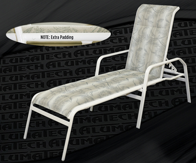 Z 716PS Commercial Sling Chaise Lounge